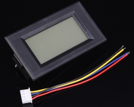 AC Ammeter LCD Display Blue Backlight 8-18V 200mA Insulation Common Power