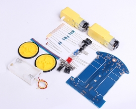 DIY D2-1 Intelligent Tracking Smart Car Suite DIY Kits TT Motor Electronic Components Kits Toy Gifts
