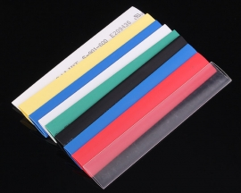 21PCS 7 Colors 8.0mm Polyolefins Assorted 2:1 Heat Shrink Tubing Kit Wrap Sleeve Kit