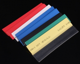 21PCS 7 Colors 10.0mm Polyolefins Assorted 2:1 Heat Shrink Tubing Kit Wrap Sleeve Kit