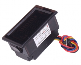 12V Double Display Digital Voltmeter Voltameter Power Indicator For Lead Acid Lithium Battery
