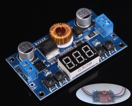 5A DC-DC Adjustable Step-Down Buck Module Converter 5-36V To 1.2V-32V With Voltmeter