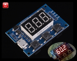 2 Channel PWM Pulse Adjustable Frequency Square Wave Digital Display Signal Generator Module Stepper Motor Controller