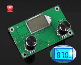 PLL LCD Digital FM Stereo Radio Receiver Module 50Hz-18KHz Wireless Microphone Module DC 3-5V with LCD Display