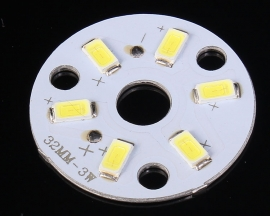 30mm 3W Warm White LED SMD5730 Lamp Light Board 300mA 9V-10.8V Downlight Light Bulb Parts