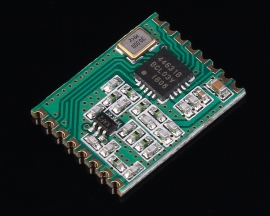 433MHz Wireless Transceiver Module SPI Interface FSK -126dBm 100mW DC 1.8-3.6V