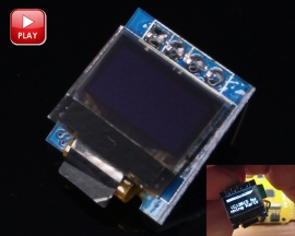 "Blue 0.49in OLED Display Module 64x32 0.49"" Screen I2C IIC for Arduino AVR STM32"