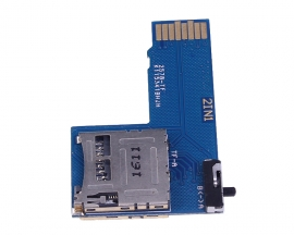 2 In 1 Dual TF Card Adapter Shield Two Micro SD Card Dual System Switch Converter for Raspberry Pi B+/2B/3B