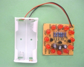 12-LED Cycle Lamp Production Suite Electronic Components DIY Kits