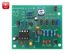 NE555 Multi Waveform Signal Generator Suite DIY Kits Electronic Production Square Triangle Sine Sawtooth Wave