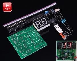 DIY Kits Simple Frequency Measurement Meter Suite 1-99Hz Square Wave Signal Digital LED Tester