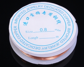 0.8mmx2.6m Red Copper Wire Conductive Experiment DIY Materials