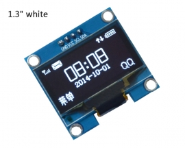 "1.3"" 1.3in White OLED Display Module IIC Interface 128x64 3-5V for Arduino"