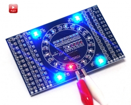 DIY SMD Rotating LED Components Soldering Practice Board Skill Training DIY Kit Light LED Module