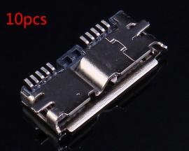 10pcs Micro USB 3.0 Female Socket Female USB Connector Adapter SMD DIY Components