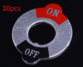 10pcs On/Off Switch Placard For 6mm Toggle Switch
