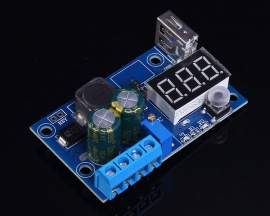 DC-DC LM2596 Step-Down Module 4-40V To 1.2-38V W/Voltage Display USB Interface