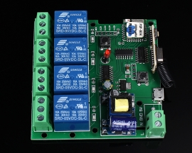 4-Channel Inching Self-Lock Interlock Wifi Relay Module 220V 433MHz For Smart Home