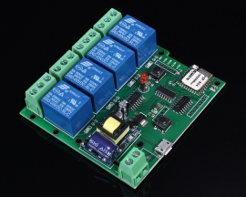 220V 4-Channel Inching Self-Lock Interlock Wifi Module for Cellphone Control