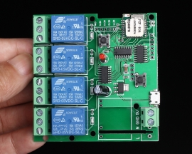 5V 4-Channel Inching Self-Lock Interlock Wifi Relay Module for Cellphone WiFi Control