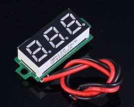 0.36 Inch Red Digital Thermometer Non-Waterproof LED Display NTC Metal Temperature Sensor