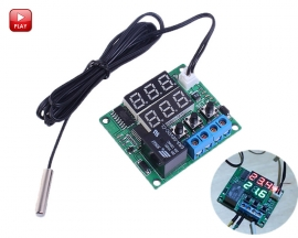 Red+Green 5V Digital Temperature Controller Thermostat Switch Module w/ NTC Waterproof Temperature Sensor Probe