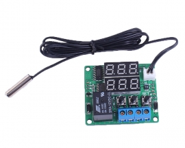 Red+Green 12V Digital Temperature Controller Module with NTC Waterproof Temperature Sensor Thermostat Switch