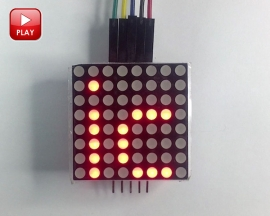 MAX7219 Dot Matrix Display LED Matrix Display Module for Arduino MCU Control