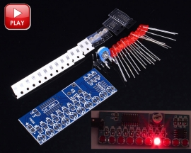 DIY Kit NE555+CD4017 10 LEDs Flashing Light Water Flowing Light Red LED Module Electronic Suite Circuit Board