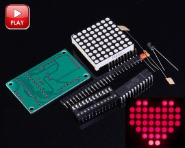 MAX7219 8*8 Dot Matrix Display Module Suite 5V MCU Control DIY Kits 5*3.2*1.5cm