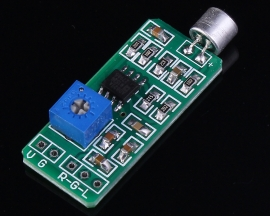 Microphone Audio Amplifier Module Dual Track Output Gain Adjustable DC 2.6-12.5V 6mA