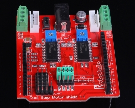 2-Channel Stepper Motor Driver Shield Expansion Board Compatible 3.3V/5V
