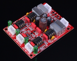NE5532 4-Channel Preamplifier Operational Amplifier Module DC 12-24V 71x56x20mm