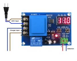 XH-M602 Digital Control Charge Control Module AC 220V Protection Board For Lithium/Lead-acid Battery