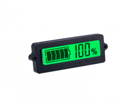 12V Lead-Acid Battery LY6N Recessed Battery Capacity Indicator Tester Voltmeter Green Light