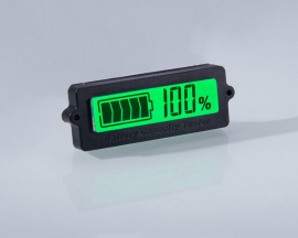 24V Lead-Acid Battery LY6N Recessed Battery Capacity Indicator Tester Voltmeter Green Light