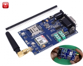 SIM800C GSM GPRS Module Support 3.3/5V TTL Level Control Development Board DC 6-24V for Arduino 51 MCU