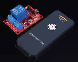 12V 1-Channel Infrared Learning Type Module + 1-Key Remote Control Self-Lock Inching Interlock