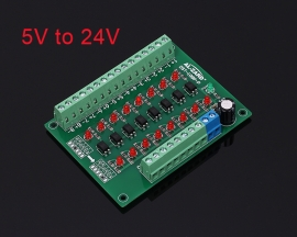 5V to 24V 8-Channel Photoelectric Isolation Module Level Voltage Converter PNP Output PLC Signal Module