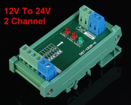 12V To 24V 2-Channel 2bit Voltage Level Converter Board High Speed Pulse Signal 10A 2MHz