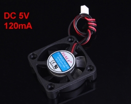 DC 5V 120mA Double-Wired 7 Blade Brushless Silent Fan Cooling Fan A Type Interface 40x10mm