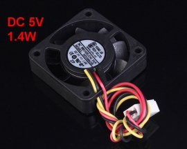 DC 5V 1.4W Three-Wired 9 Blade Silent Fan Cooling Fan I Type Interface 40x10mm