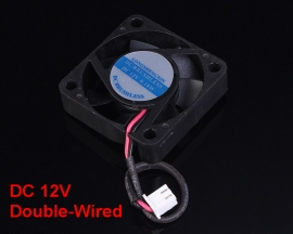 DC 12V 0.18W Double-Wired 7 Blade Brushless Cooling Fan Double Ball Bearing 40x10mm