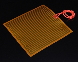 24V 50W PI Polyimide Heating Film Heater Tape Plate Fast Preheating 120mmx125mm