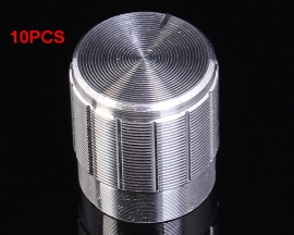 10pcs 15x16.5mm Silver Aluminium Alloy Rotary Knob For Potentiometer Volume Adjustment Button