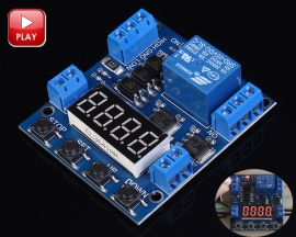 Single Channel Relay Module Delay Off Trigger Voltage Detection DC 6-30V