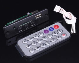 5-12V Mini MP3 Decoder Board Support USB/SD/MMC Card Support Infrared Remote Control