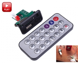 12V Mini MP3 Decoder Board Support U-Disk/TF Card with Remote Control