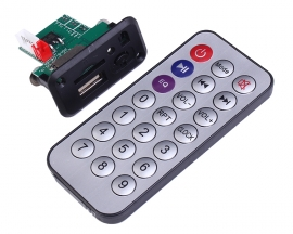 12V Mini MP3 Decoder Board Support U-Disk/TF Card w/Remote Control 44x23mm