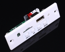 5V White MP3 Decoder Board Stereo Amplifier Board 3Wx2 Support USB TF Card